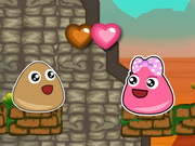 action, adventure , boy , cartoon , escape , girl , jumping , kid , pou , pou