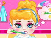 action , baby , cartoon , dress up , baby , cinderella , morning , care