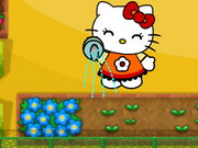 Hello Kitty Defend The Flowers Game