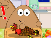 Pou Thanksgiving Day Slacking Game