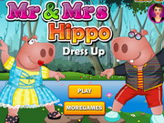 Mr And Mrs Hippo Dressup