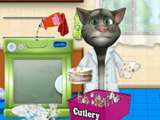 Talking Tom Washing Game