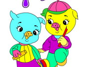Jolly Pigs Coloring Game