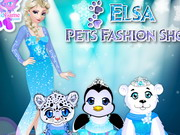 Elsa's Pets Fashion Show Game