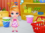 Baby Barbie Learns Gardening Game