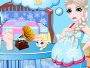 Queen Elsa Pregnancy Care Game