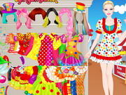 Barbie Clown Princess Dressup Game