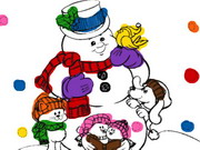 Snowman Coloring Book Game