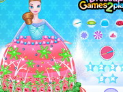 Frozen Princess Gown Cake Decor Game