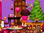 Dora Xmas Room Cleaning Game