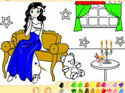 coloring , design , fun , painting , lovely , girl