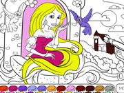 Rapunzel In The Tower Coloring