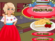 Mia Cooking Peach Flan Game