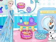 Elsa's Dirty Laundry Game