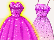 Super Barbie's Glittery Dresses Game