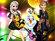 Elsa And Anna Rock Band Game