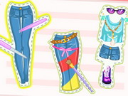 dress-up, barbie , girl , kid , barbie , diy , jeans , makeover