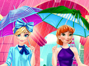 Frozen Sisters Shopping In Paris Game