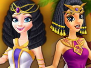 Elsa And Jasmine Shopping In Egypt Game
