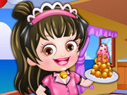 Baby Hazel Waitress Dressup Game