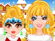 Christmas Face Painting Makeover
