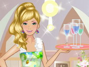 Barbie Waitress Game