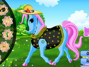dress-up, animal , decoration , girl , happy , pony , dress