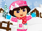 Dora Winter Fashion Dressup Game