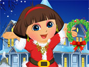 Dora Christmas Dressup Game