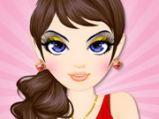 dress-up, makeover,makeup , black , and , gold