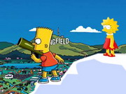 fighting, cartoon , funny , kid , simpsons , two players , simpson , battle