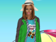 Helen Autumn Camping Dress Up Game