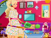 Barbie Living Room Cleanup Game