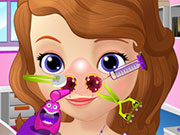 Sofia The First Nose Doctor Game