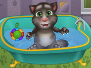 Baby Talking Tom Bathing Game