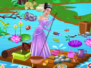 Princess Tiana Pond Cleaning Game