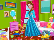 Princess Elsa Bedroom Cleaning Game
