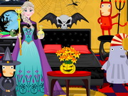 Frozen Elsa Halloween Decor Game