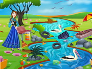 Princess Anna River Cleaning Game