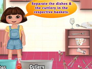 Dora Washing Dishes Game
