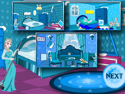 Frozen Elsa Room Cleaning Time Game
