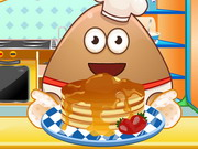 Pou Cooking Pancakes Game