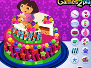 Dora Delicious Cake Decor Game
