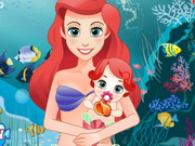 Mermaid Ariel Give Birth To A Baby Game