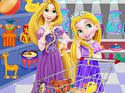 Baby Rapunzel And Mom Shopping Game