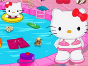 Hello Kitty Messy Swimming Pool Game