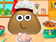 Pou Cooking Lesson Game