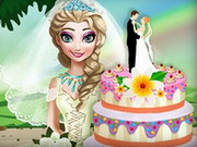 Elsa's Wedding Cake Cooking Game