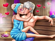 Elsa Sauna Flirting Realife Game