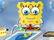 Spongebob Washing Dishes Game